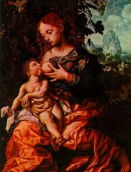 Virgin and Child Breastfeeding Picture