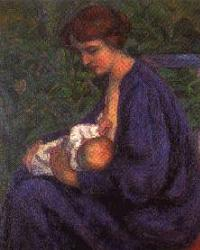 Painting of a Mother Nursing a Baby