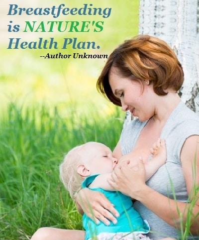 breastfeeding is natures health plan