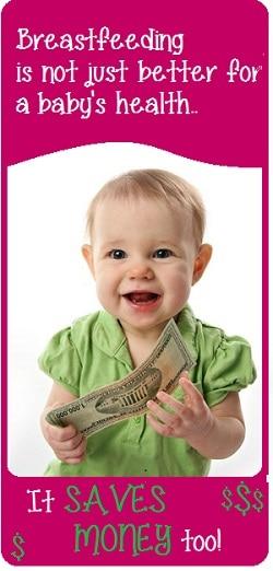 breastfeeding saves money