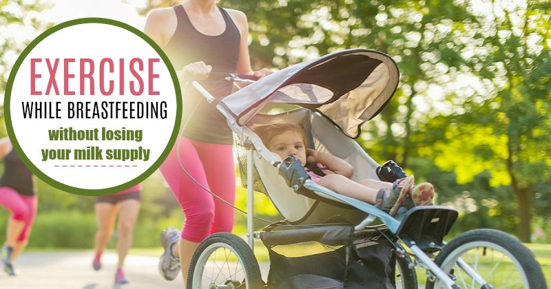 Exercise while breastfeeding without losing your milk