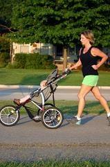 Jogging stroller mom
