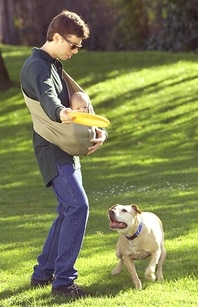 Dad with Baby in Sling
