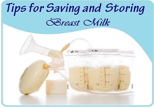 saving and storing breastmilk