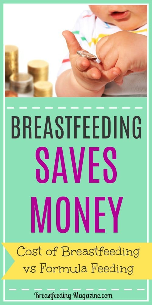 Compare the cost of formula feeding vs breastfeeding and find out how much money breastfeeding saves.