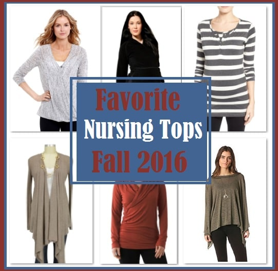 Nursing Tops for Breastfeeding Moms Fall 2016