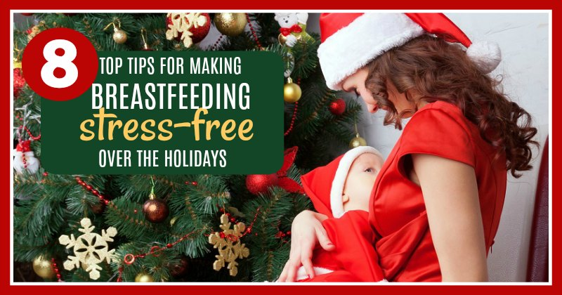 Mixing breastfeeding and the holidays can make some moms want to panic!