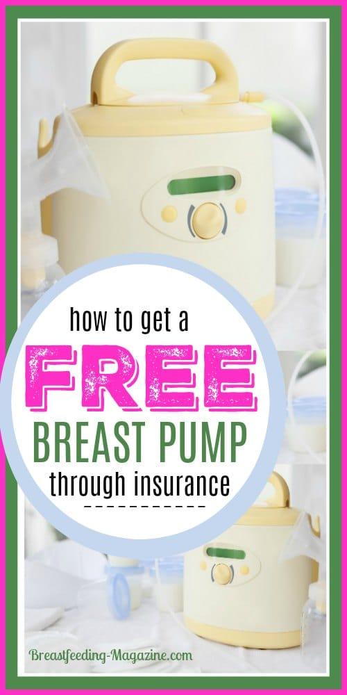 Get a free breast pump through insurance
