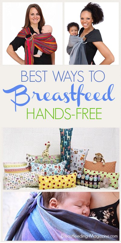 Yes! You can breastfeed hands-free and get stuff done!