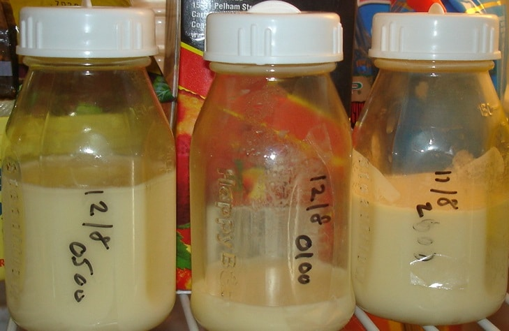 Breast Milk in Bottles