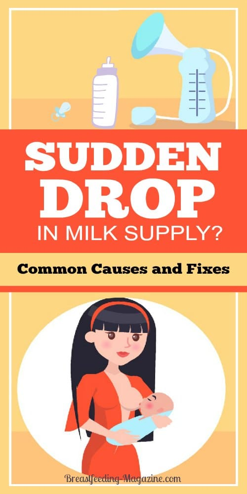 Sudden Drop in Milk Supply?
