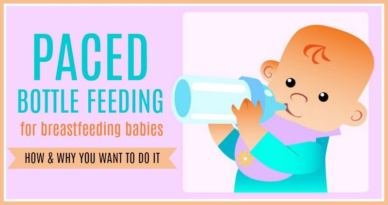 Paced bottle feeding for breastfeeding babies