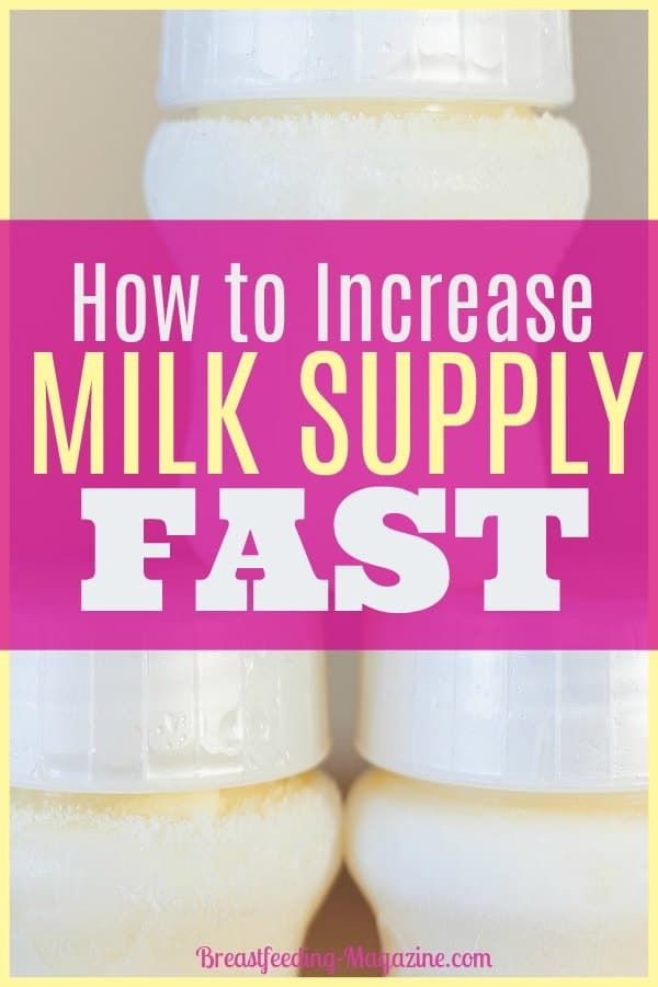 How to Increase Milk Supply Fast