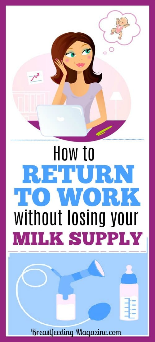 Going Back to Work after Your Baby is Born? How to Maintain Your Milk Supply