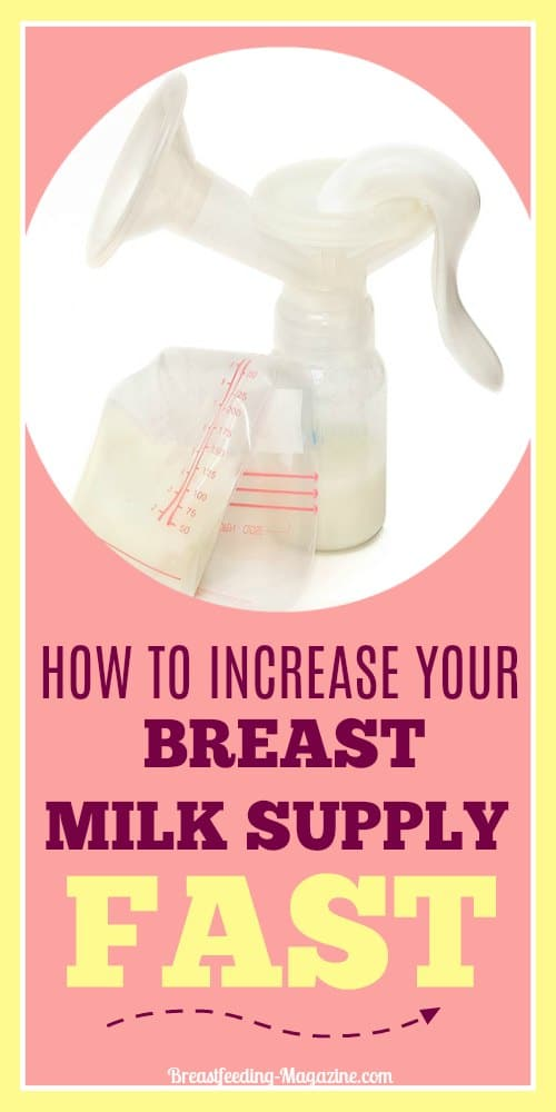 How To Boost Breast Milk Supply Quickly