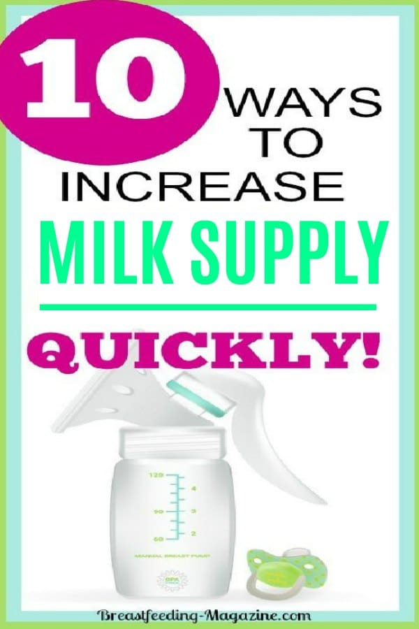 Top 10 Ways to Increase Milk Supply Quickly