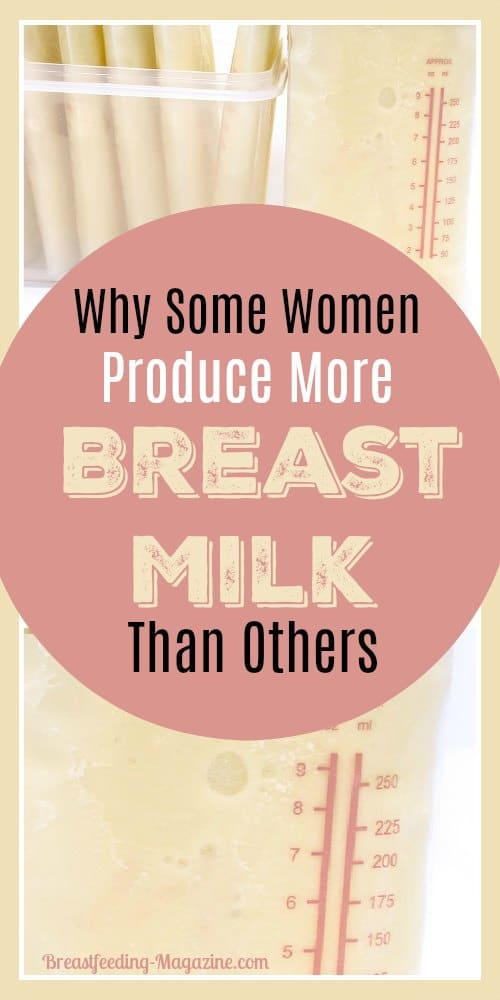 Why Some Moms Produce More Breast Milk Than Other Moms