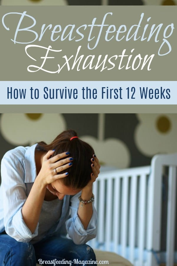 Suffering from breastfeeding exhaustion and postpartum fatigue?  Learn how to survive the first 12 weeks with your baby even when you are beyond tired.